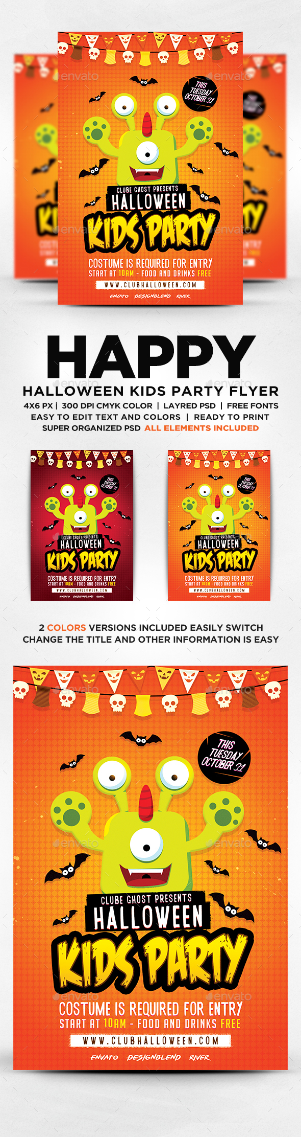 GraphicRiver Halloween Kids Party Flyer 20663391