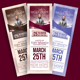 Leader's Day Church Ticket Template - GraphicRiver Item for Sale