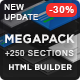 MEGAPACK – Marketing HTML Landing Pages Pack + PixFort Page Builder Access - ThemeForest Item for Sale