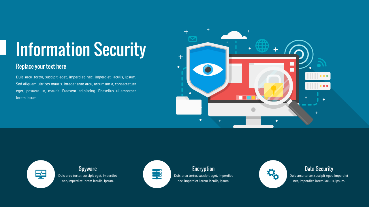 Information security powerpoint template cyber security powerpoint powerpoint templates free download security image information security powerpoint template toneelgroepblik Choice Image