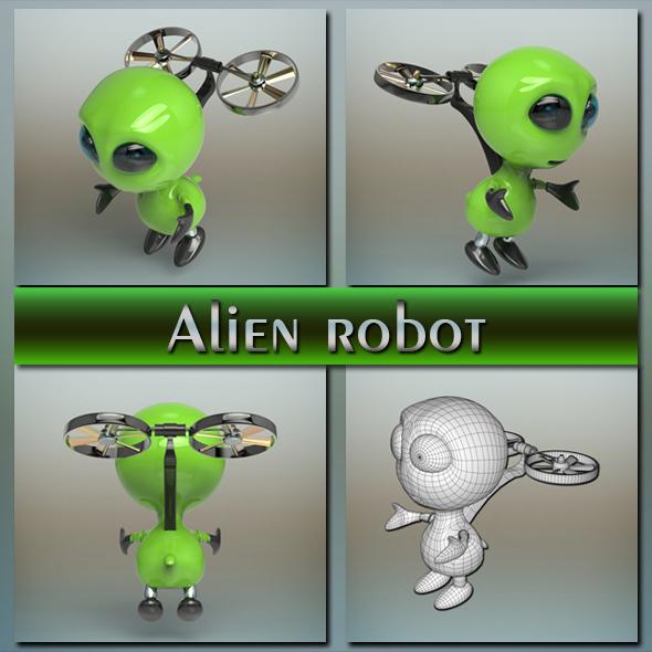 3DOcean Alien robot 20663731