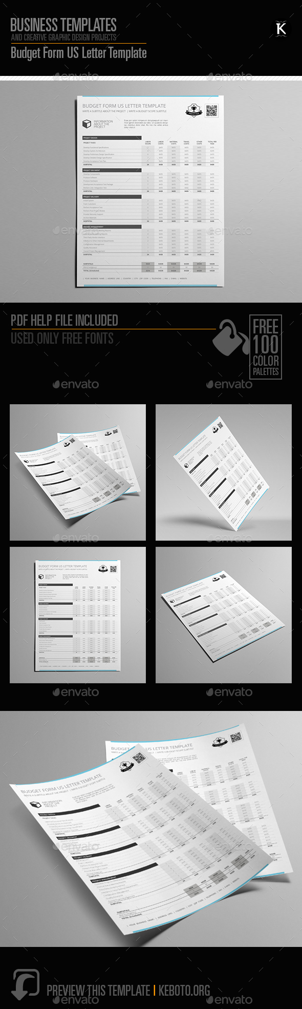 GraphicRiver Budget Form US Letter Template 20663768