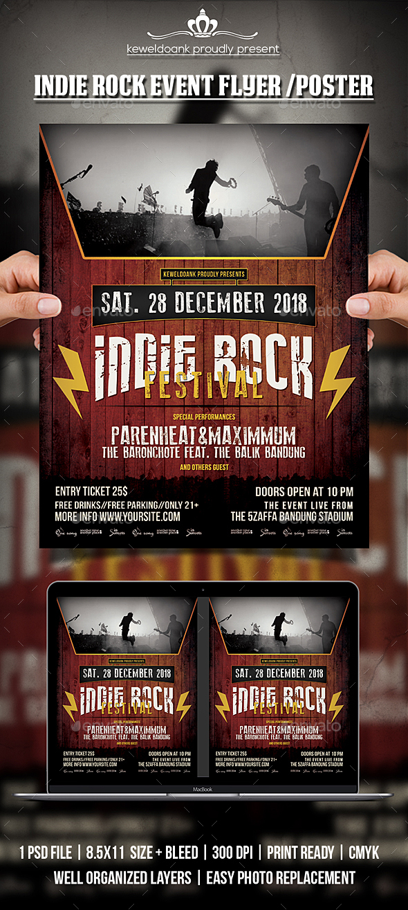 GraphicRiver Indie Rock Event Poster 20663907
