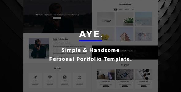 AYE - Personal Portfolio Template - Personal Site Templates