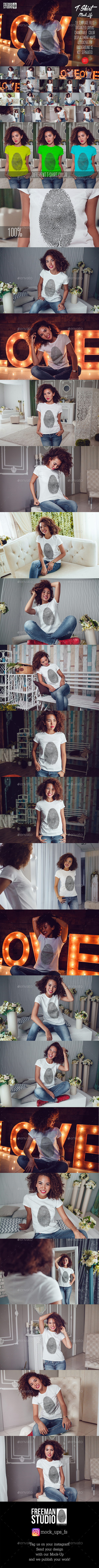 GraphicRiver T-Shirt Mock-Up Vol.15 2017 20664274