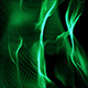 New Green Abstract Particles Loop