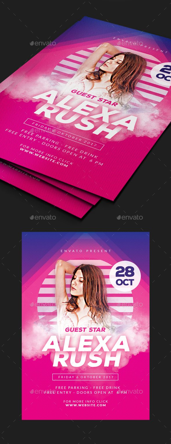 GraphicRiver Guest Dj Flyer 20664480