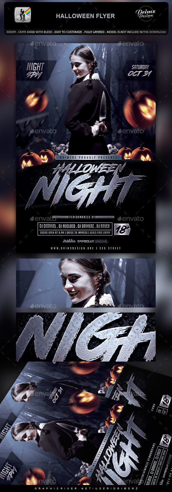GraphicRiver Halloween Flyer 20664487