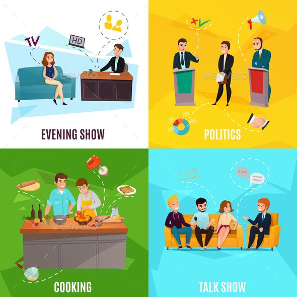 Talk Show Concept - Miscellaneous Vectors
