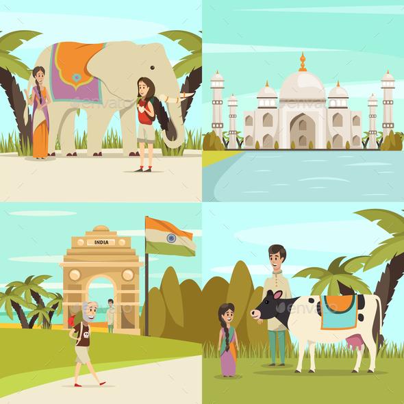 GraphicRiver India 2x2 Design Concept Set 20664545