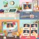 Online Education 2x2 Design Concept