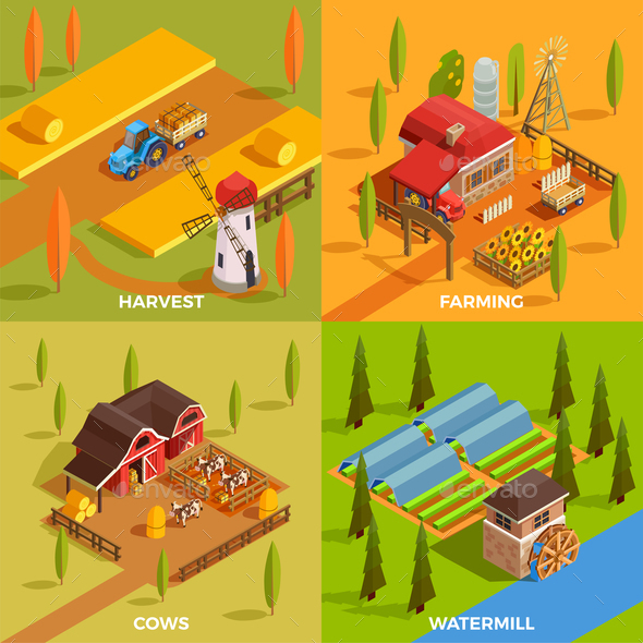 GraphicRiver Farm Isometric 2x2 Concept 20664548