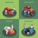 Autoservice 4 Isometric Concept Icons