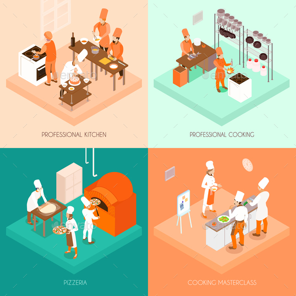 GraphicRiver Cooking Isometric Design Concept 20664560