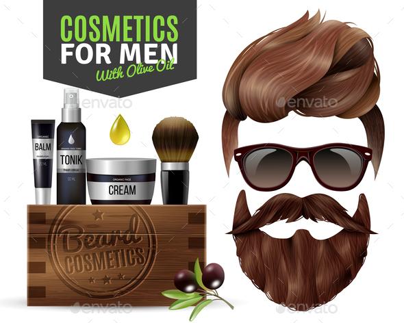 GraphicRiver Realistic Male Cosmetics Poster 20664563