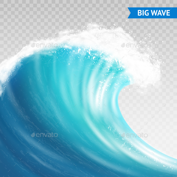 GraphicRiver Big Wave On Transparent Background 20664566