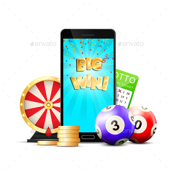 GraphicRiver Online Lottery Casino Colorful Composition 20664575