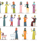 Arabic Woman Icons Set