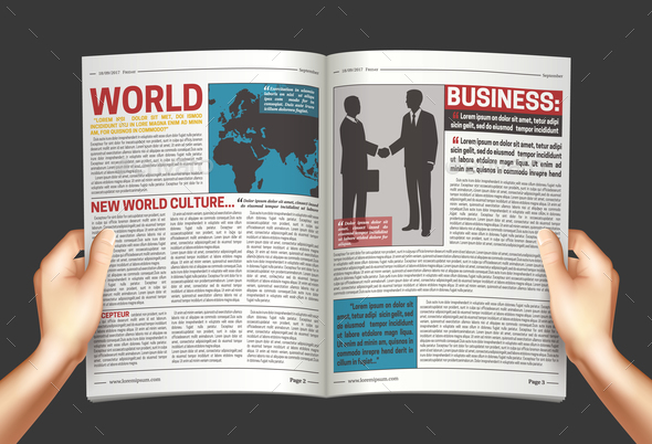 GraphicRiver Newspaper In Hands Background Poster 20664597