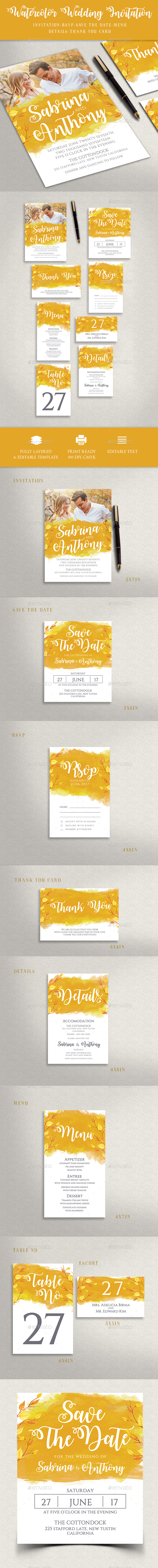 GraphicRiver Wedding Invitation 20664605