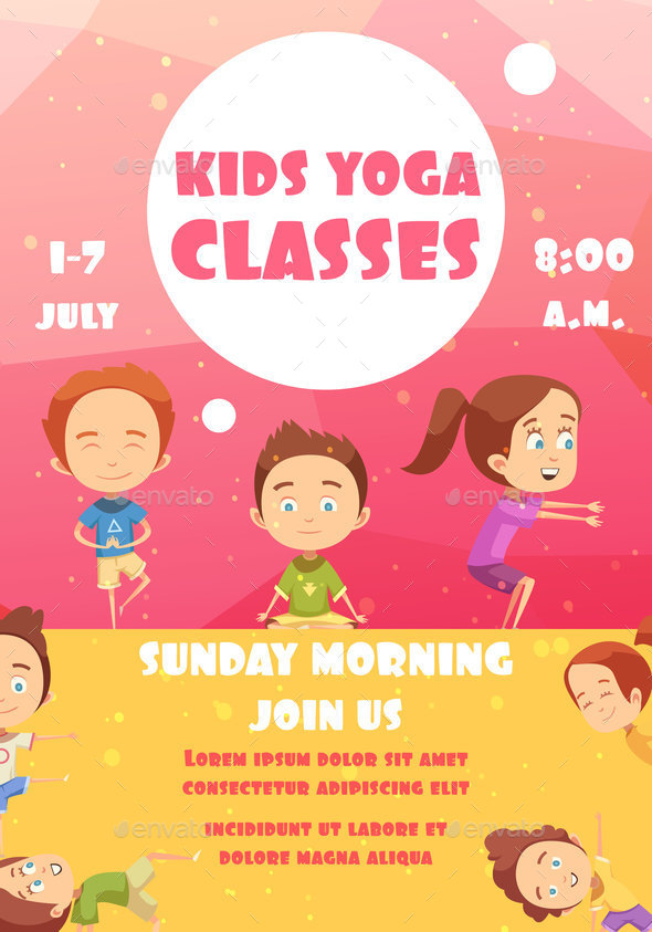 GraphicRiver Kids Yoga Classes Advertising Poster 20664606