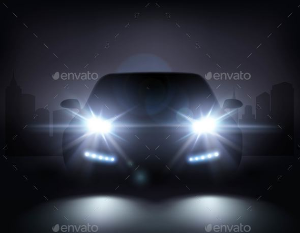 GraphicRiver Modern Car Lights Composition 20664616