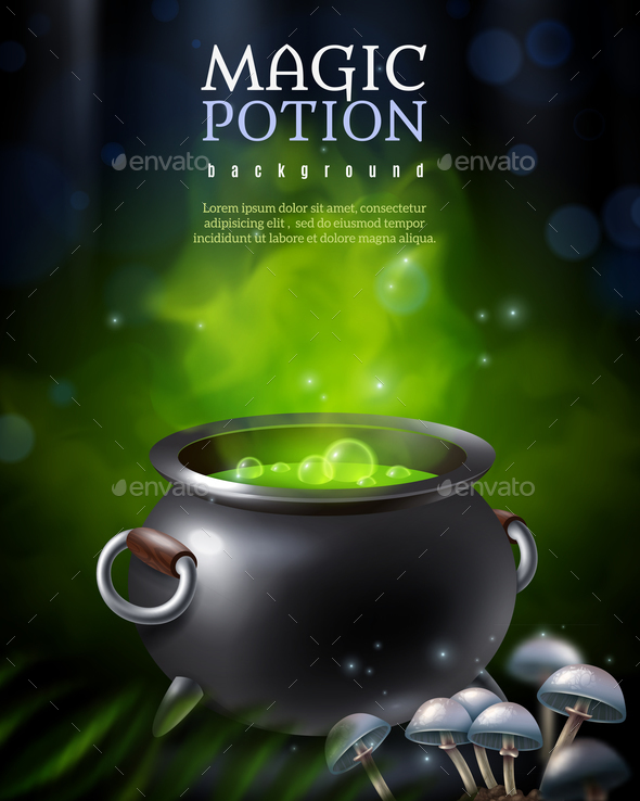 GraphicRiver Mysterious Poison Pot Background 20664626