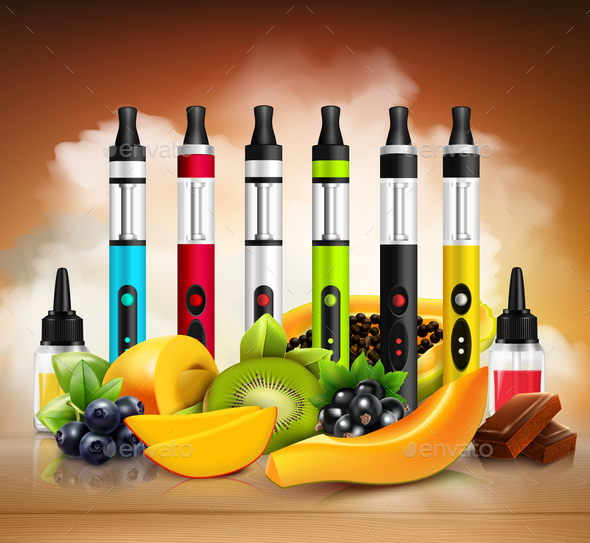 GraphicRiver Realistic Vaping Illustration 20664634