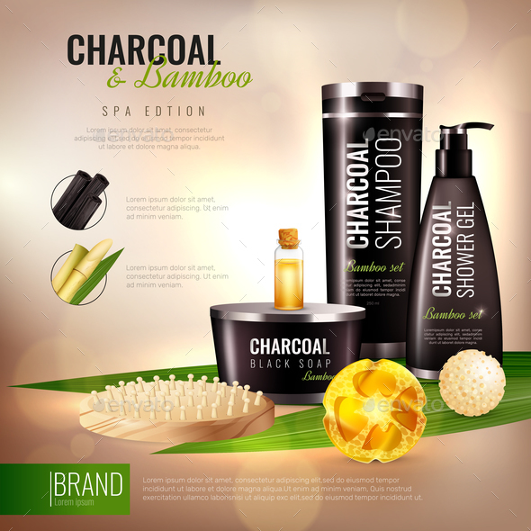 GraphicRiver Charcoal And Bamboo Body Cosmetics Poster 20664683