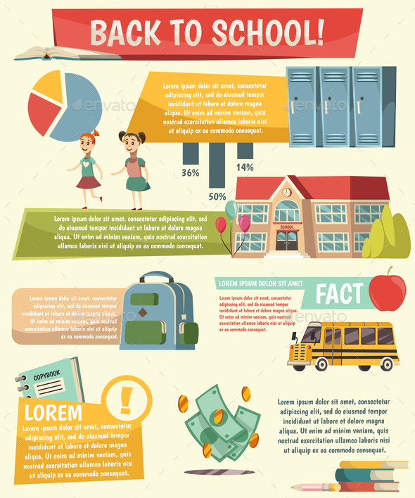 GraphicRiver School Orthogonal Infographics 20664687