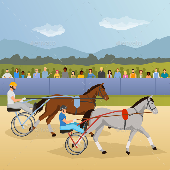 GraphicRiver Harness Racing Flat Composition 20664692