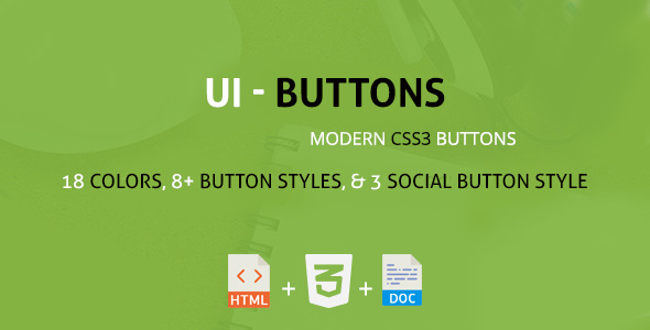 CodeCanyon UIButton A Modern CSS3 Buttons Collection 20664831