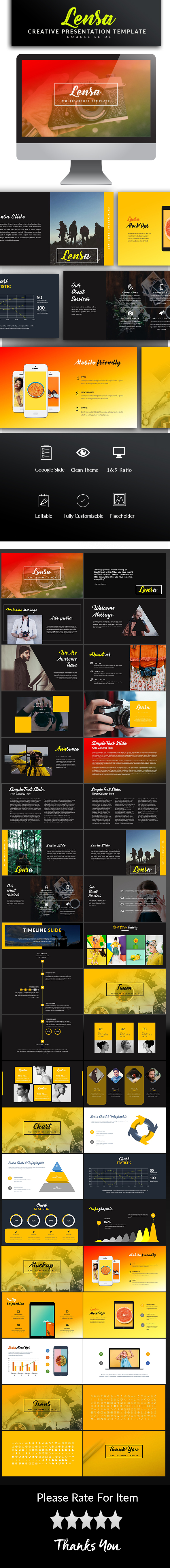 Lensa Google Slide Template - Google Slides Presentation Templates