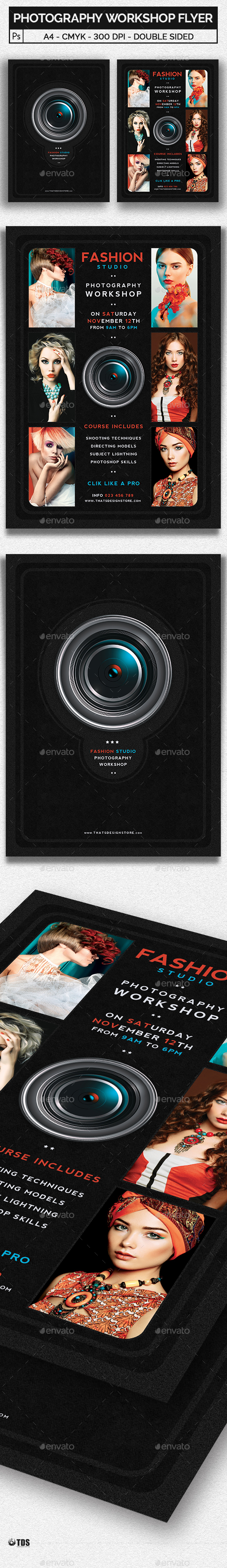 GraphicRiver Photography Workshop Flyer Template 20664841