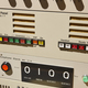Submarine old radio transmitter equipment detail. Military device. vertical  - PhotoDune Item for Sale