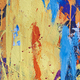 Multicolored vivid and textured gouache abstract background. Horizontal - PhotoDune Item for Sale