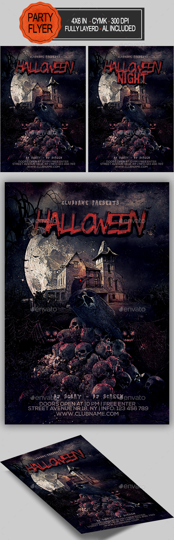 GraphicRiver Halloween Flyer 20635883