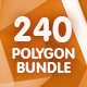 240 Polygonal Backgrounds - Bundle - GraphicRiver Item for Sale