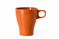orange mug isolated
