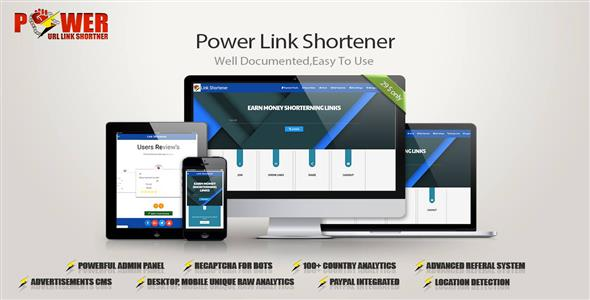 CodeCanyon Power Link Shortener 20627626