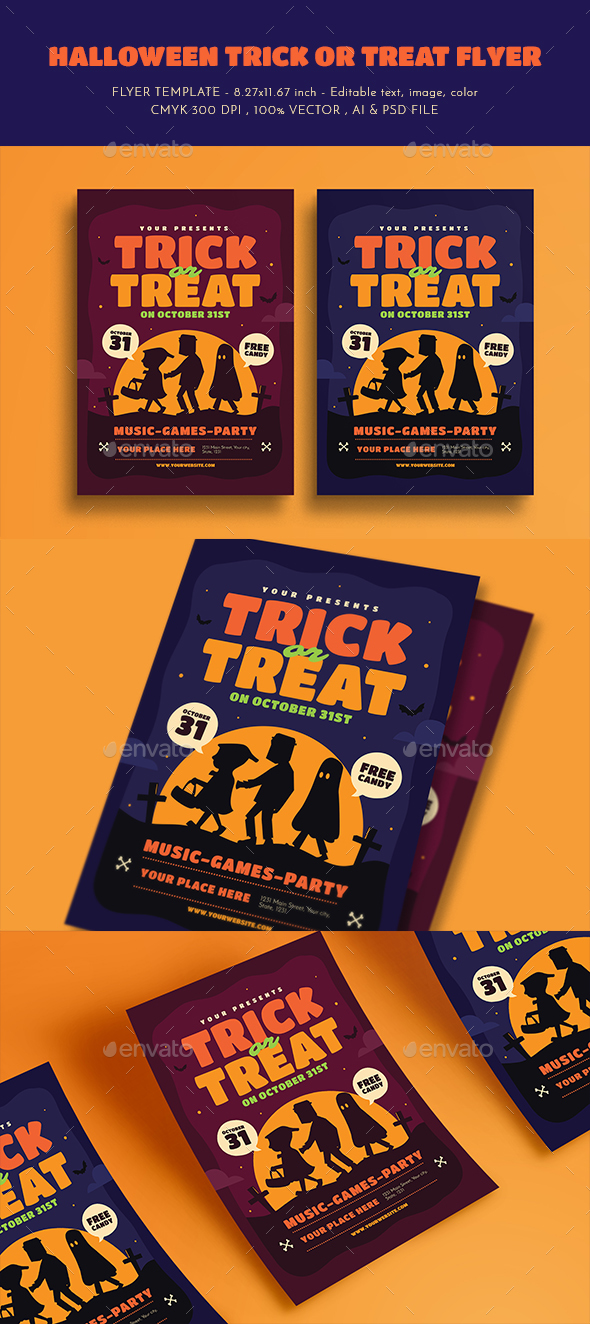 Halloween Trick or Treat Flyer - Events Flyers
