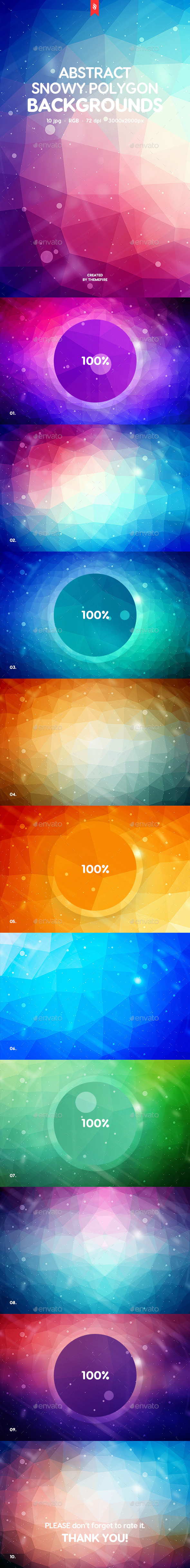 Snowy Polygon Backgrounds - Backgrounds Graphics