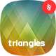 Abstract Blurred Triangles Backgrounds - GraphicRiver Item for Sale