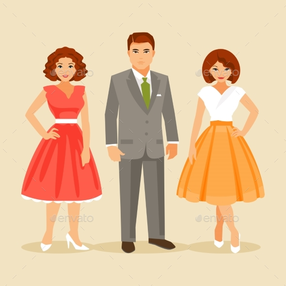 GraphicRiver Fashion of the 1950s Years 20665601
