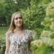 Girl Walks in the Spring Park - VideoHive Item for Sale