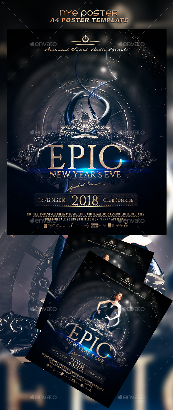 NYE  Poster - Events Flyers
