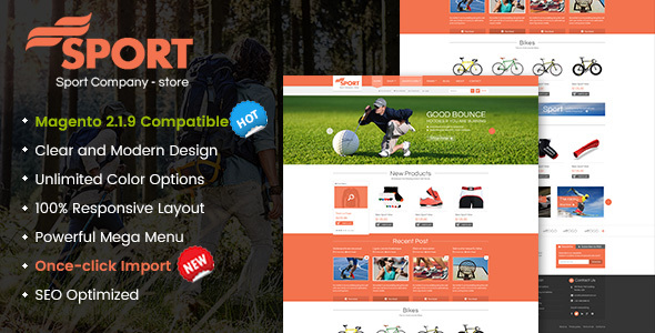 SM Sport - Responsive Magento 1.9 and Magento 2 Theme - Shopping Magento