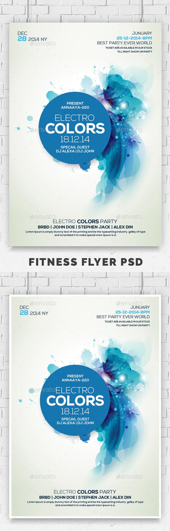 GraphicRiver Minimal Colors Flyer 20666213