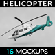 Helicopter Mockup