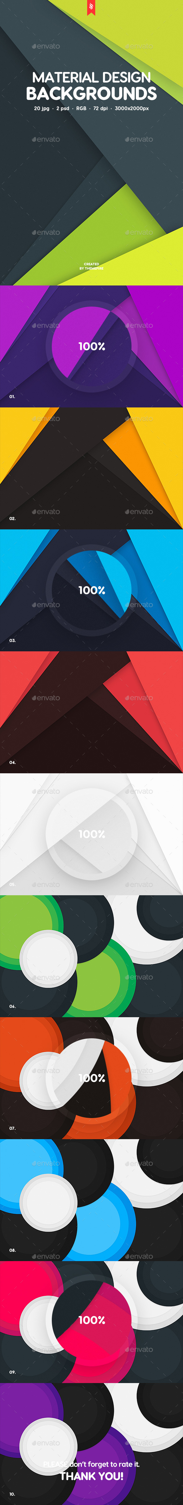 20 Material Design Backgrounds - Abstract Backgrounds